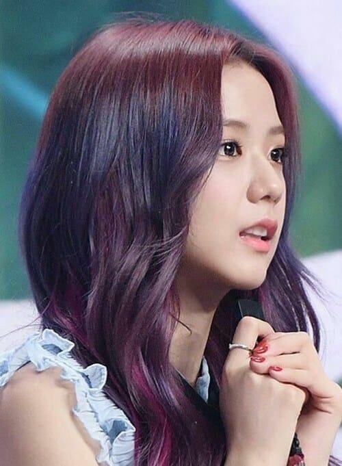Tóc màu tím nâu