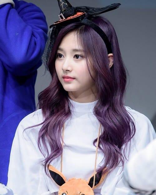 Tóc màu tím hoa cà