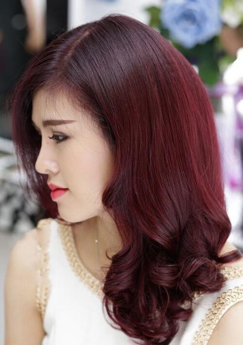 Tóc màu rượu vang đỏ