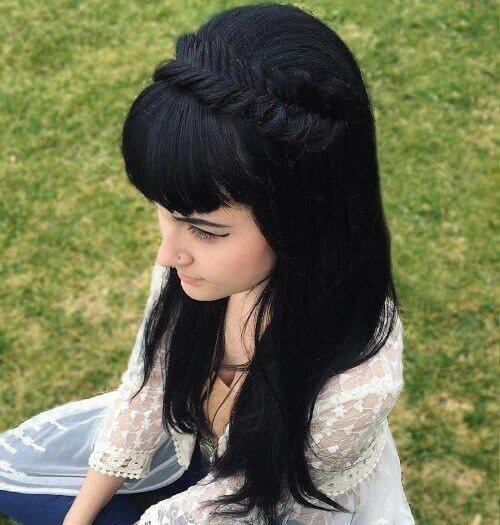 Tóc bím mái đặc biệt thích hợp cho nữ sinh