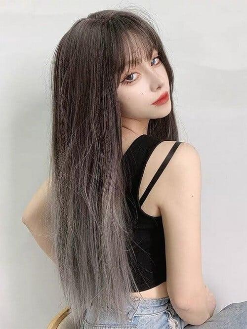 Tóc màu nâu đen khói