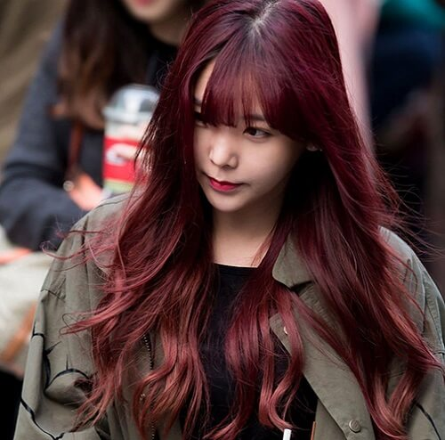 Tóc màu nâu vàng đỏ