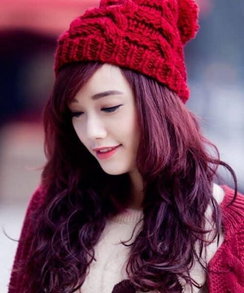 Tóc màu nâu vàng ánh đỏ