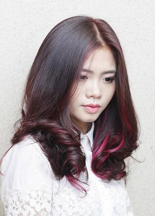 Tóc nâu đỏ móc light
