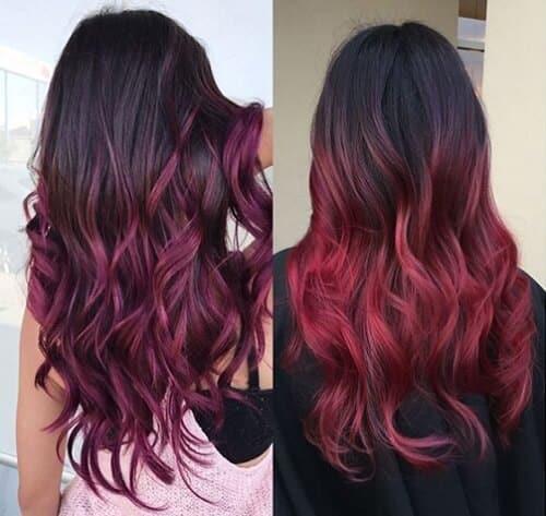 Tóc xoăn màu nâu đỏ