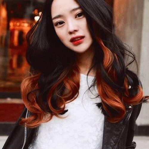 Tóc màu nâu cam đỏ