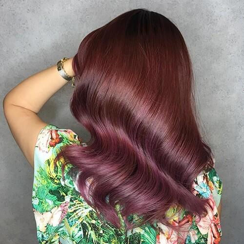 Tóc màu nâu đỏ nhạt