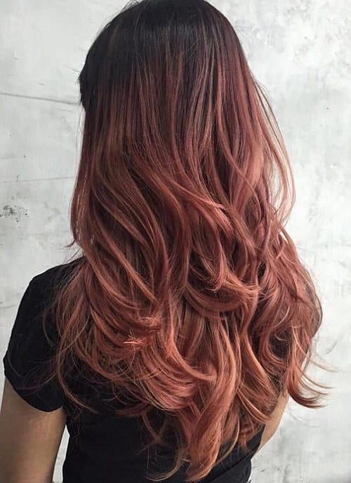 Tóc màu nâu hung đỏ