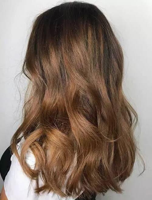 Nhuộm tóc Balayage màu nâu nhạt