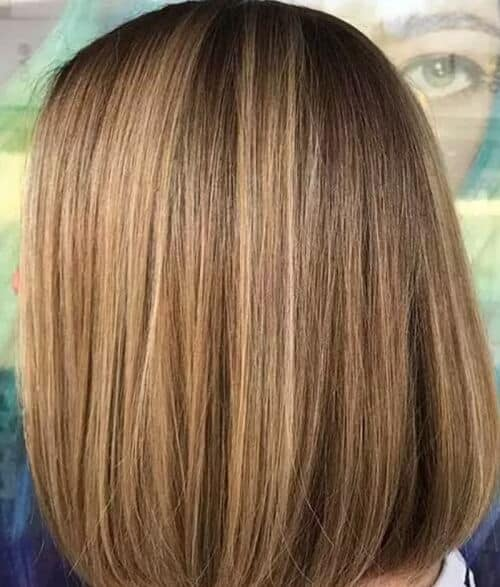 Tóc Bob màu nâu sáng