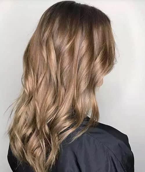 Màu tóc nâu sáng lấy cảm hứng mùa thu