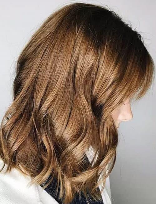 Tóc nâu socola sáng màu