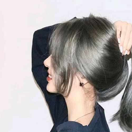 Tóc màu nâu trầm phủ bạc