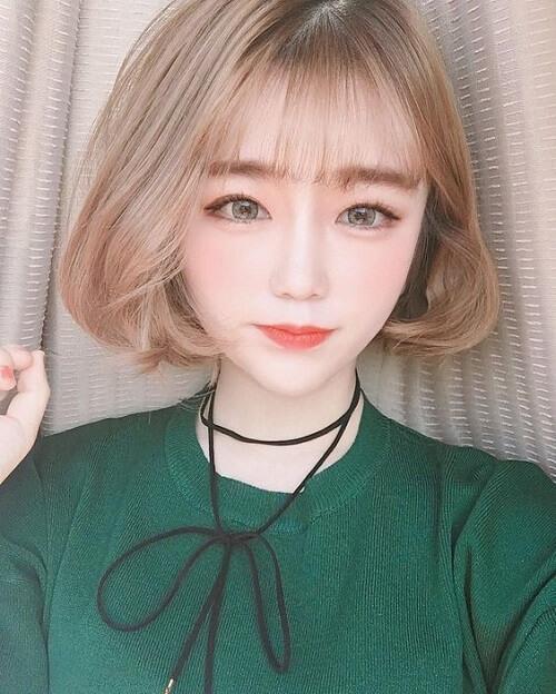 Kiểu tóc màu vàng khói 2021 - Ảnh 19