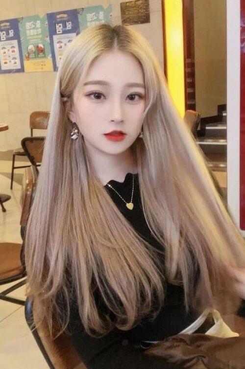 Kiểu tóc màu vàng khói 2021 - Ảnh 20