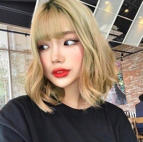 Kiểu tóc màu vàng khói 2021 - Ảnh 21
