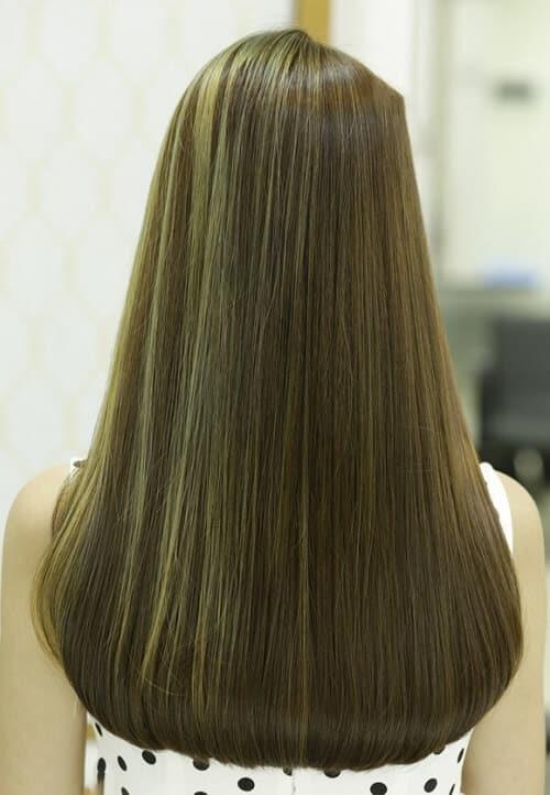Tóc màu vàng xanh rêu