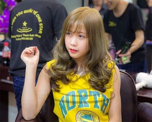 Tóc màu vàng rêu nguyên thủy