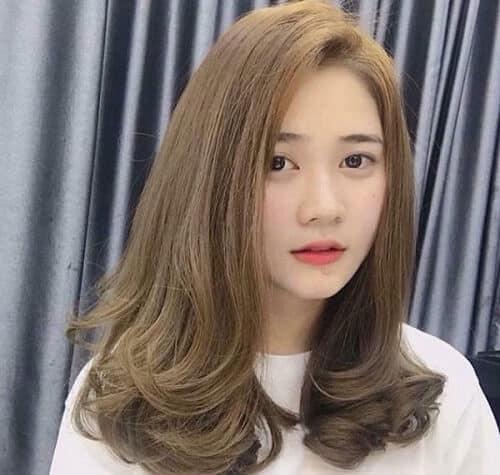Tóc màu vàng rêu và nâu