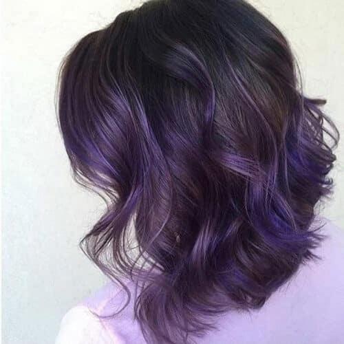 Tóc màu xanh đen tím khói
