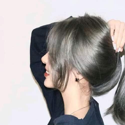 Tóc màu xanh đen khói bạc