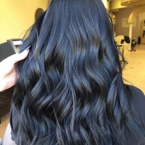 Tóc màu xanh đen chăm sóc thế nào?