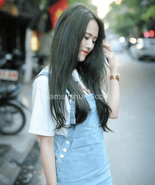 Tóc màu xanh rêu đẹp