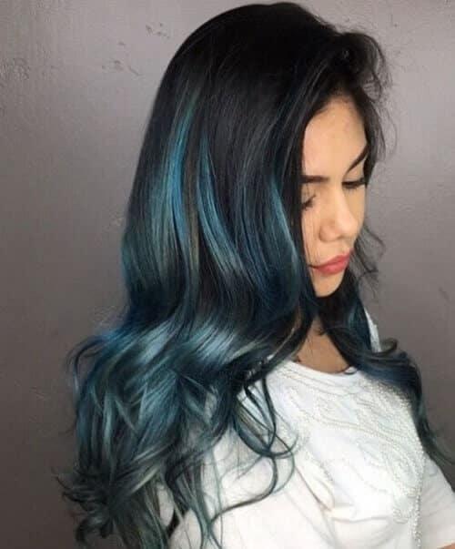 Móc light tóc màu xanh rêu