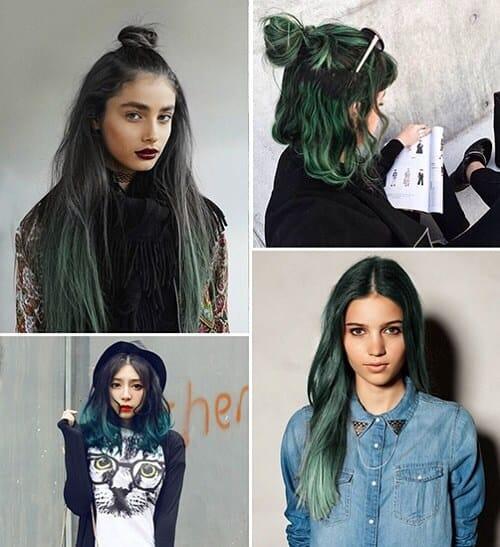 Tóc màu xanh rêu phương tây