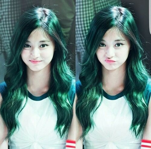 Màu tóc xanh rêu sáng