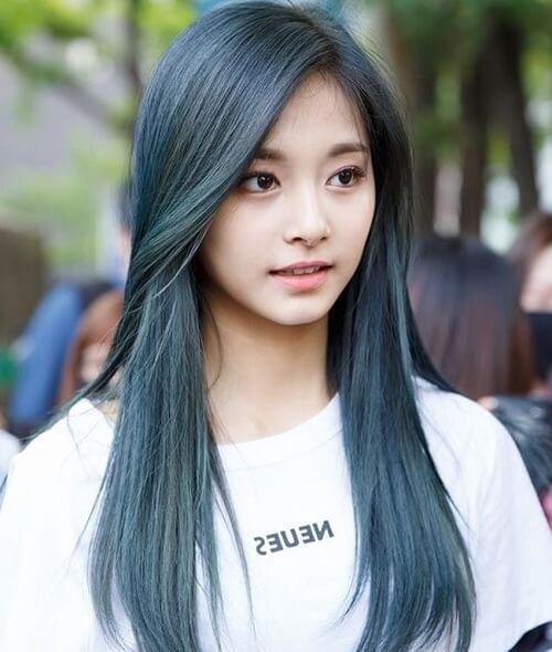 Tóc màu xanh rêu pha khói