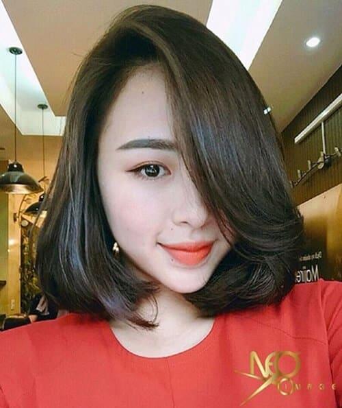 Kiểu tóc ngắn duỗi phồng 2021 xinh đẹp lộng lẫy - Ảnh 24