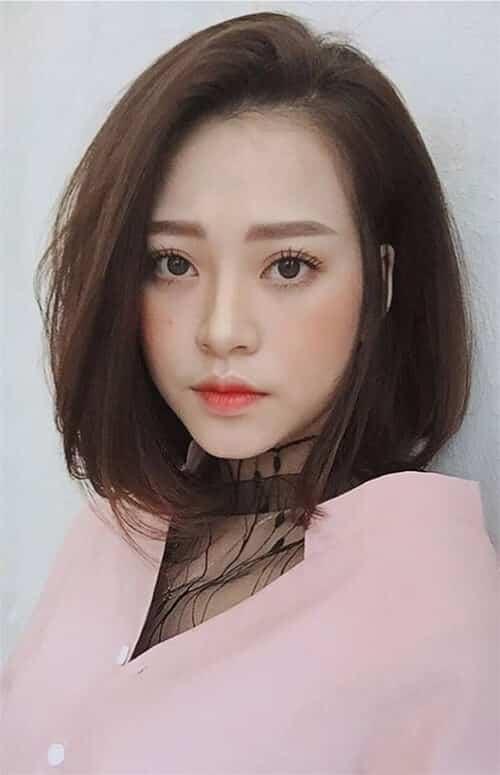 Tóc ngắn Hàn Quốc cho mặt vuông
