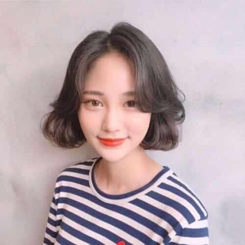 Kiểu tóc ngắn xoăn nhẹ 2021 - Ảnh 14