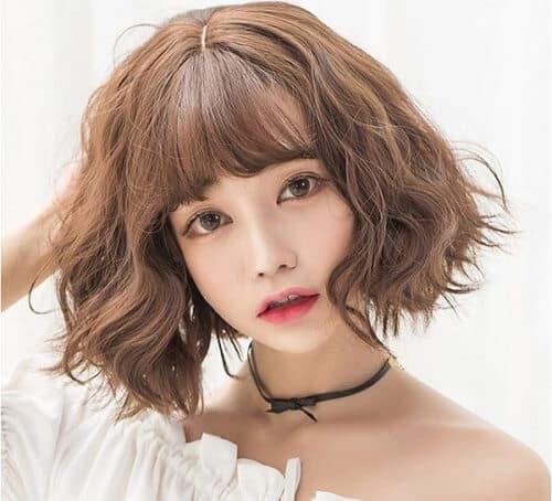 Kiểu tóc ngắn xoăn nhẹ 2021 - Ảnh 4