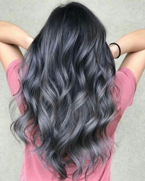 Tóc màu xám đen - Ảnh 4