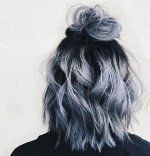 Tóc màu xám rêu - Ảnh 1