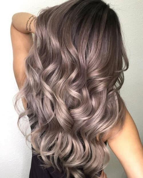 Tóc màu xám nâu - Ảnh 2