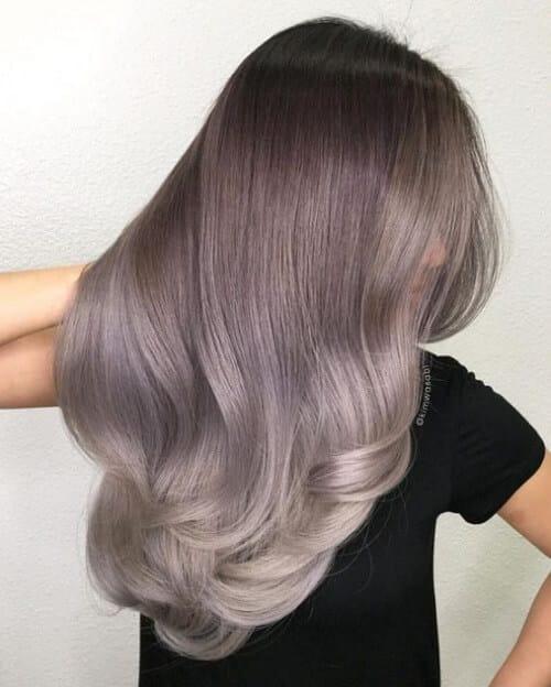 Tóc màu xám nâu - Ảnh 3