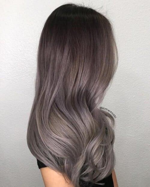 Tóc màu xám nâu - Ảnh 4