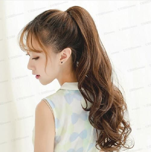 Tóc đẹp cho học sinh nữ cấp 2 đuôi gà