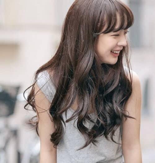 Tóc đẹp xoăn dài