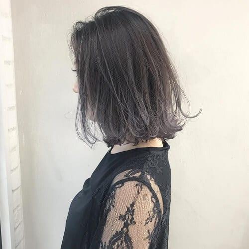 Kiểu tóc màu than chì đẹp: Ánh khói