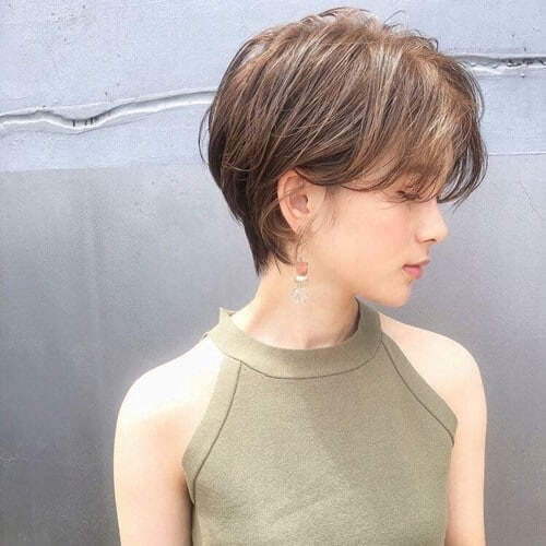 Tóc tém uốn nhẹ cho bạn tóc mỏng mặt dài