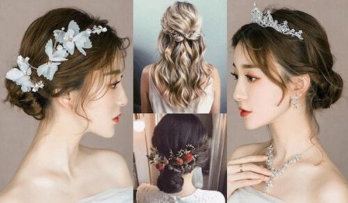 Tóc cô dâu đơn giản