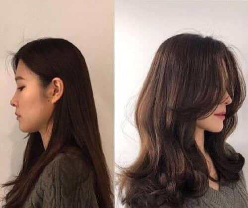 Tóc layer nữ khiến mặt trở nên dịu dàng