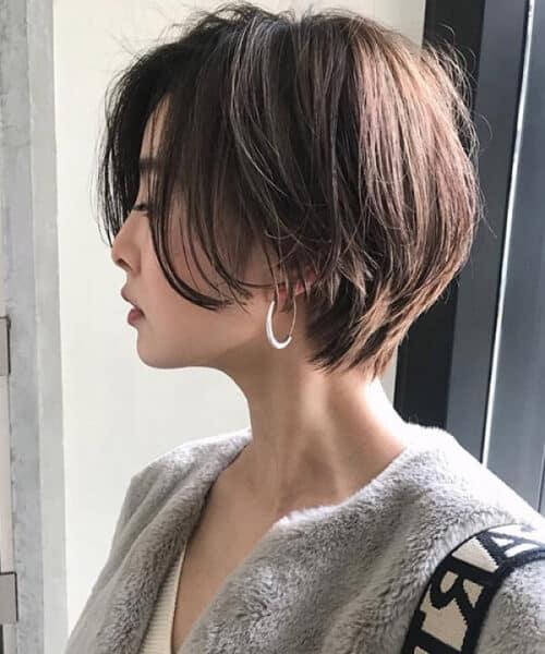 Tóc ngắn layer Hàn Quốc
