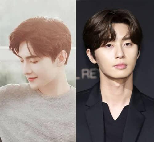 Tóc nam đẹp Hàn Quốc 2 mái