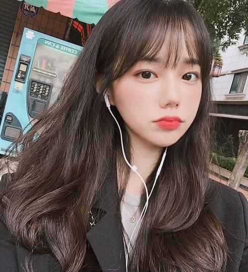 Tóc mái thưa Hàn Quốc