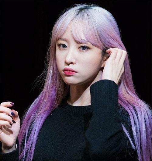 Màu tóc tím khói hồng